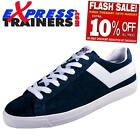 Pony Mens Topstar Suede Ox Vintage Retro Trainers (Blue) * AUTHENTIC *