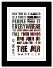 ❤  BASTILLE  of the night ❤ song lyric poster typography art print - 4 sizes