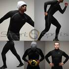 Mens Black Winter Sports Compression Set Base Under Layer Top Pants Long Take 5