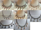 variation color 7pcs drip teardrop freshwater pearl chain cluster necklace