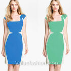 Women Optical Illusion Slimming Stretch bodycon Business Party Pencil Dress 1019