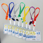 Custom Lanyard ID Badge Card Key Holder Ring Case Pocket Neck Strap Luggage Tape