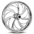 """RC Components Helix Chrome 18"""" x 3.5"""" Front Wheel Harley-Davidson No ABS"""
