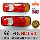 46 Led Rear Tail Lights Truck For Scania Volvo Man Iveco Renault Mercedes 24v