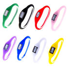 Unrestrained Digital Silicone Rubber Jelly Negative Ion Sports Bracelet Watch