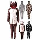 WOMENS FLEECE FUN FUNNY NOVELTY ANIMAL CHARACTER PJs NIGHTWEAR ONESIES S M L XL