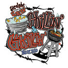 "Dixie Rebel Southern "" CHILLIN' & GRILLIN' "" 50/50 Gildan/Jerzees T SHIRT"