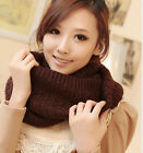 Winter Thick Infinity Twist Cable Knit Scarves Winter Warmer Circle Scarf
