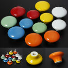 1/2/10pcs Round Ceramic Door Knobs Cabinets Drawer Kitchen Cupboard Pull Handles