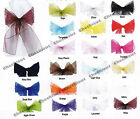 "6/24/60 Wedding Party Banquet COLORS 9""x120"" Chair Cover Organza Sash Bow Decor"