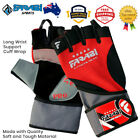Weight Lifting Gloves Gel Pro for gym training fitness with long cuff wrist wrap