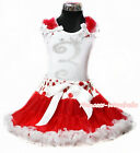 Rhinestone Crown 1ST 2ND 3RD 4TH 5TH 6TH White Top Dot Red White Pettiskirt 1-8Y