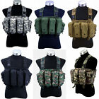 Cool Men's Outdoor Tactical 6 Pouches Magazine Carry Chest Rig Vest