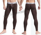 Sexy Men's Low Rised Pants Thermal Underwear Soft Bamboo Fiber Long Johns S~L