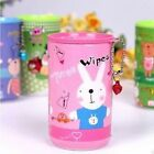 Hands Faces Wipes Sanitizer Antibacterial Aloe VE Cute Tin Case