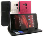 Wallet Leather Case Card Slots Film For SONY Xperia SP C5302 C5303 C5306 #n2