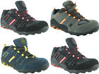 MENS LEATHER SUEDE GROUNDWORK STEEL TOE LIGHT WEIGHT SAFETY TRAINERS SHOES