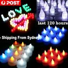 12-72 LED Candle Warm White Colourful Light Flickering Flameless Candles Wedding