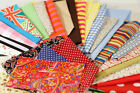 COTTON FABRIC SQUARES-OFF CUTS-SCRAPS Perfect for Craft 50g-100g-250g bags