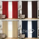 Luxury Faux Suede Curtain Ready Made Eyelet Ring Top Window Home Decoration