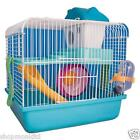 New Dwarf Hamster Cage Small Animal House Gerbil Mouse Wheel Water Bottle Slides