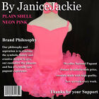 New National Pageant Dress Plain Shell,  Size: XXS, XS, S, M, L (Neon Pink)