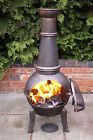 Cast Iron Chiminea Patio Heater Barbeque Fire Pit Wood burning Stove Garden Heat