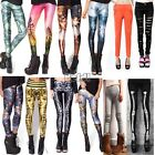 Hot Sexy Skinny Leggings Pencil Pants Galaxy Tights Skeleton Jean Stockings BF00