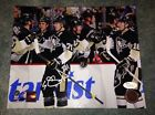 Evgeni Malkin James Neal Signed Pittsbugh Penguins 8x10 Autograph JSA Frameworth