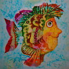 "Needlepoint canvas ""Cute Yellow Nose Fish"""