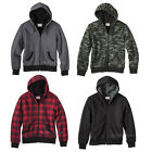 NWT Mossimo Men Sherpa-Lined Hooded Sweatshirt Jacket Green Camo/Red/Black/Gray