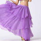 M PURPLE | Women Lady Hot Spiral Skirts 3 Layer Circle Belly Dance Costume Boho
