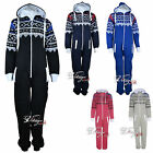 New Unisex Mens Womens Plus Size Onesie Ladies Aztec Print Jumpsuit All in One