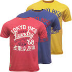 Tokyo Laundry Mens T-Shirt Short Sleeve Designer Top Pink Blue or Yellow