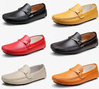 New Men's casual Moccasin Loafer Driving Slip Ons Leather Dress Shoes