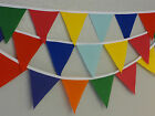 Bright As U Like No Gaps Handmade fabric bunting 22 ft-6.5mtrs 44ft-13mtrs