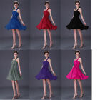 Promotion Prom Halter Bridesmaid Party Evening Gowns Cocktail Short Ball Dresses