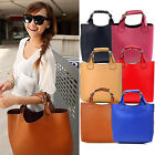 UK Fashion Womens Vintage Celebrity PU Leather Hobo Tote Handbag Shopper Bag