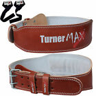 TurnerMAX Leather Weight Lifting Belts Powerlifting Training Exercise Boxing MMA