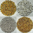 Wholesale! 2mm,2.4mm,3.2mm,4mm,5mm,6mm Metal Round Spacer Beads Silver/Gold Plt