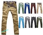 Fashionable Mens Slim Fit Skinny Stretch Pencil Jeans Long Casual Pants M-5XL