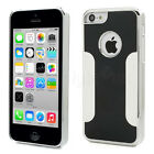 iPhone 5C Mobile Luxury Brushed Metal Case Hard Back Protective Cover Chrome New