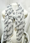 Music Scarf - Colorful Beautiful Soft Mozart Piano Violin Concert Notes !!
