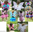 Girls Children's Fairy Tutu Outfit Wings Wand Fancy Dress up Costume Accessories