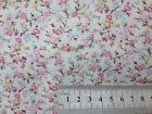 FLORAL POLYCOTTON FABRIC SMALL MEADOW MIX CREAM BACK - PINK YELLOW SKY PETAL