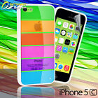 Rainbow Case For iPhone 5c 5 s + Screen Guard Colorful Fancy stylish  Cover
