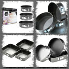 3 BRAND NEW NON-STICK SPRINGFORM CAKE TINS PAN VARIOUS SHAPE BAKING WEDDING BAKE