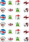 24 x PRECUT ST GEORGES DAY RICE/WAFER PAPER CUP CAKE TOPPERS