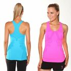 Ladies Gymwear. T-back Fitted Exercise Singlet by Blockout Sportswear size S M L