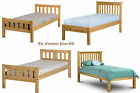 SELECTION OF SOLID PINE WOOD 3FT SINGLE BED FRAME IN LOW AND HIGH END STYLE